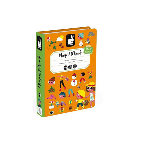 Janod Magnetibook 4 Seasons (Orange Cover)