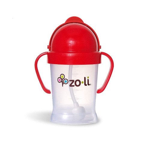Zoli Bot Straw Sippy Cup 6oz Red