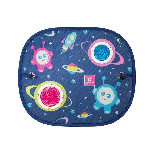The Dazzle Car Sunshade has been specially designed to create a colorful environment and loads of engagement for your baby while on-the-go.