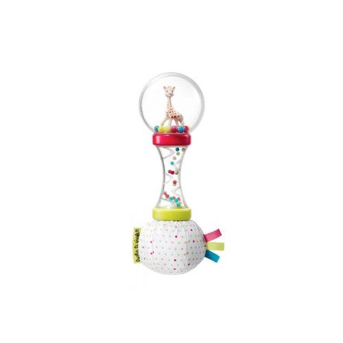 Thanks to the ergonomic shape of the handle, the rattle is easy to grasp and to handle.