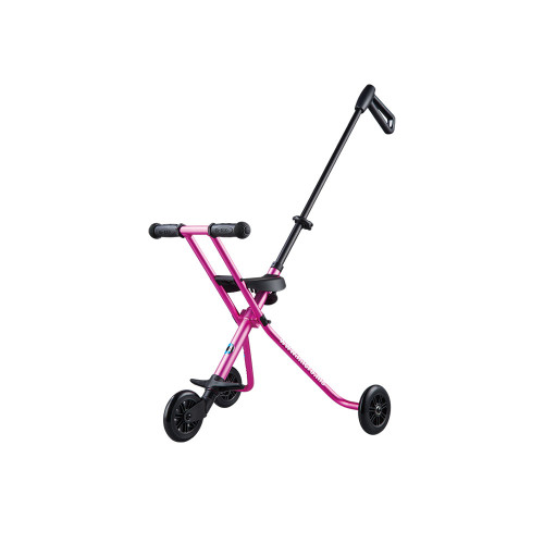 The brand new Micro Trike Deluxe now available in adorable anodized colors, with a seatbelt to secure your child. The seatbelt can be taken off if not used.
