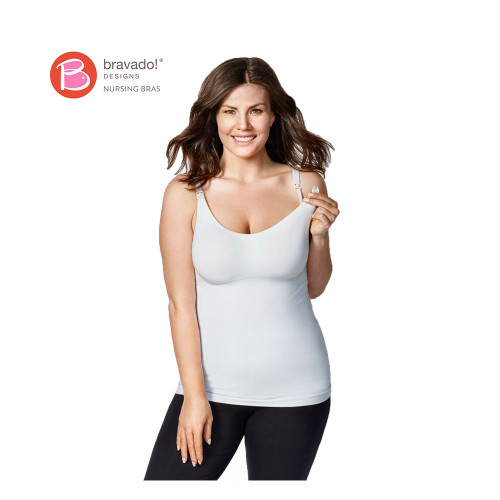 Bravado Body Silk Nursing Cami White