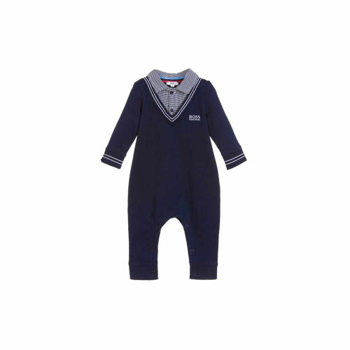 The BOSS Jersey Onsie With Shirt is the ideal piece to keep your little prince looking dapper this season.