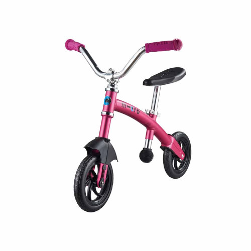 The new G-Bike Chopper Deluxe has a front suspension and an additional carving attachment as well as the standard back wheel.