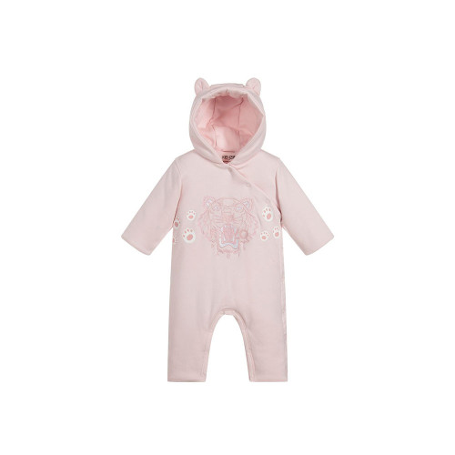 A beautifully soft cotton jersey pramsuit for baby boys by Kenzo Kids. This lovely outfit is lightly padded and fully lined in soft jersey for added comfort and warmth.