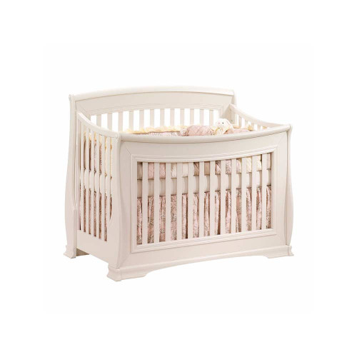 Natart Bella 5-in-1 Convertible Crib   Linen White