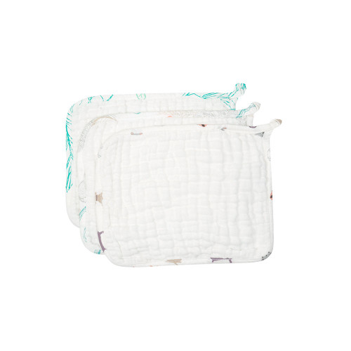 You'll love how soft and absorbent ourneworganic baby wash cloths are. Six layers of organic cotton muslin makes these cloths perfect for feeding, nursing, bathing, or wiping up drool.