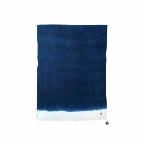 Hoppetta Bobo Walnut Throw Natural Indigo