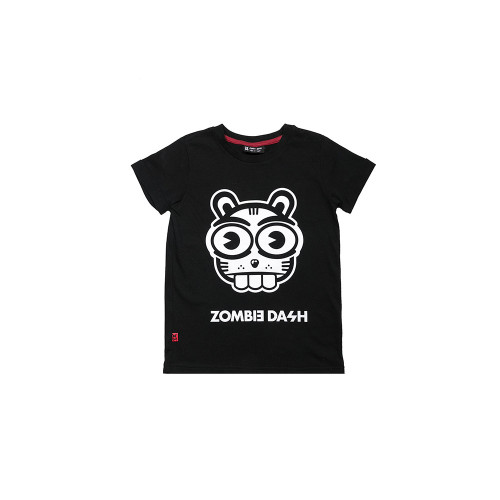 T-SHIRT SQUIRELL BLACK is a blouse made of pleasant, soft, black knitwear.
