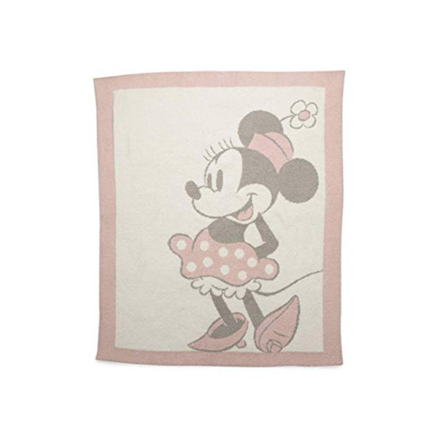 Barefoot Dreams Vintage Baby Blanket Minnie Mouse Dusty Rose