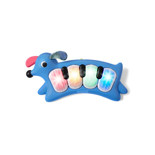 This cute pup inspires early musical creativity with cheerful tunes, notes and barks.