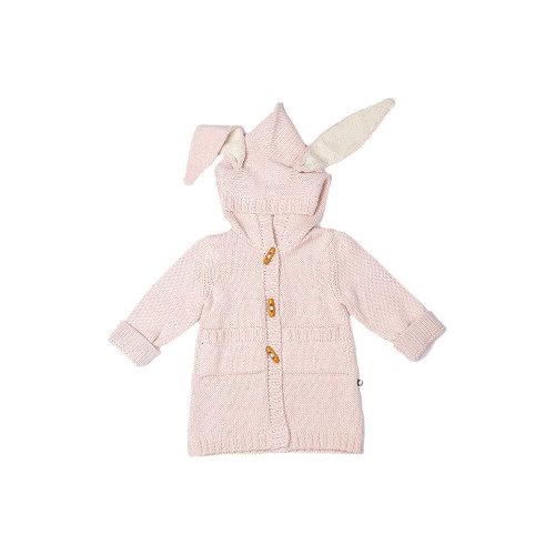 A longer sweater with toggle buttons, hood and bunny ears is a great sweater/jacket for mid-season. 100% baby alpaca.