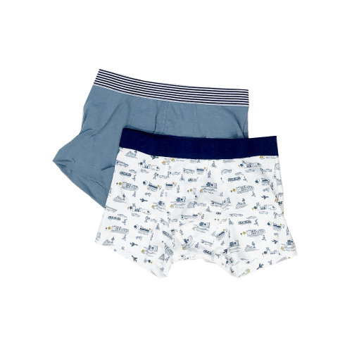 Set of two boxers in stretch cotton for greater comfort. An item with the oeko-tex label that guarantees safeness for skin.
