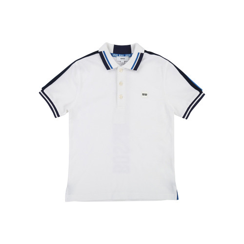 It's a white Polo shirt designed by Huge Boss.