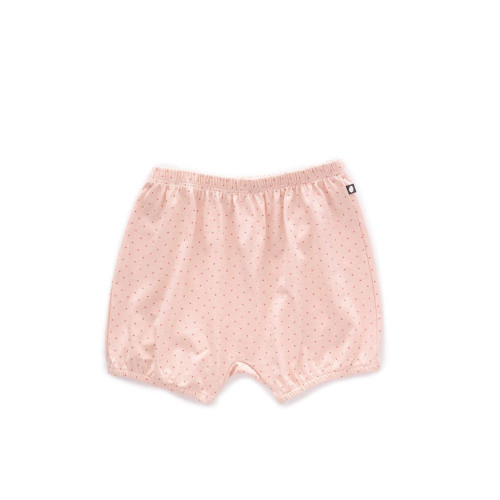 Oeuf Bubble Shorts Light Pink/Rust Dots