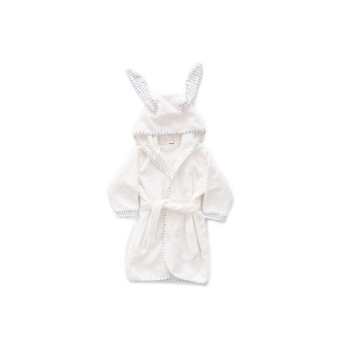 Oeuf Hooded Robe White and Numbers