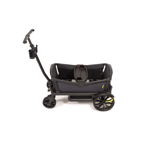 functionality and safety of modern premium strollers with the rugged  fun of a wagon.