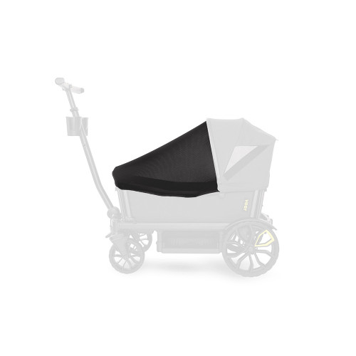 The Bug Shield zips to any Veer Retractable Canopy (sold separately) and stretches across top of Cruiser to help keep bugs away from little ones.