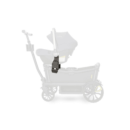 Our infant car seat adapters for major brands of infant car seats quickly and intuitively fasten to the Cruiser's frame, enabling your infant to live the Veer experience.