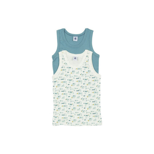 Petit Bateau Set of 2 Boy's Tank Tops Grey