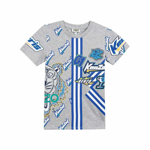 Boys can dress as mini-me, with this grey T-shirt by Kenzo Kids.