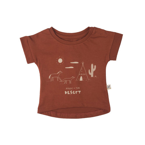 Red Caribou Teardrop T-Shirt Magic in the Desert Picante