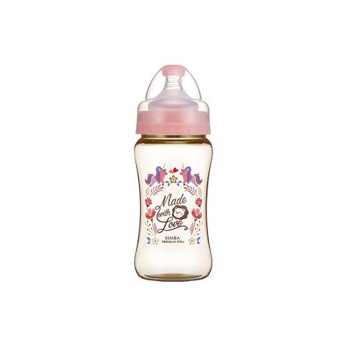 Simba Wonderland PPSU Wide Neck Feeding Bottle(270ML) Pink