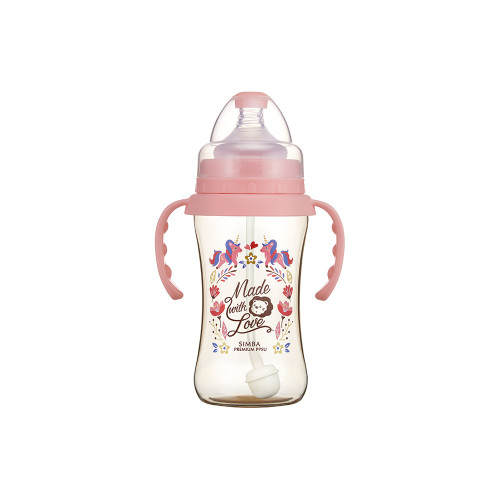 Simba Handle Wonderland PPSU Feeding Bottle(270ML) Pink