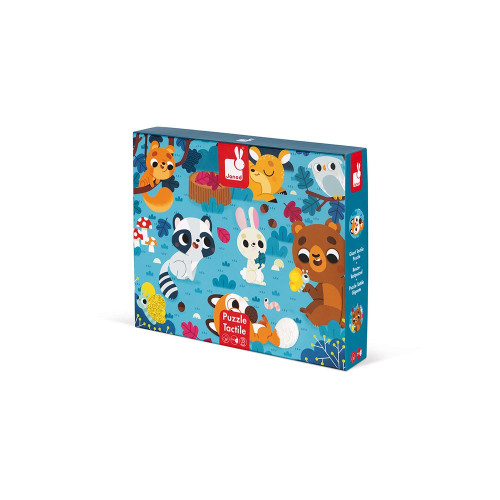 Janod Tactile Puzzle Forest Animals 20P