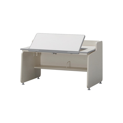 It is a growing desk with adjustable height; it is a tilting desk with adjustable top panel angle. Support children's various activities.