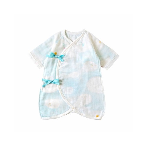 A pair of underwear made of gauze material that is gentle on baby's skin.