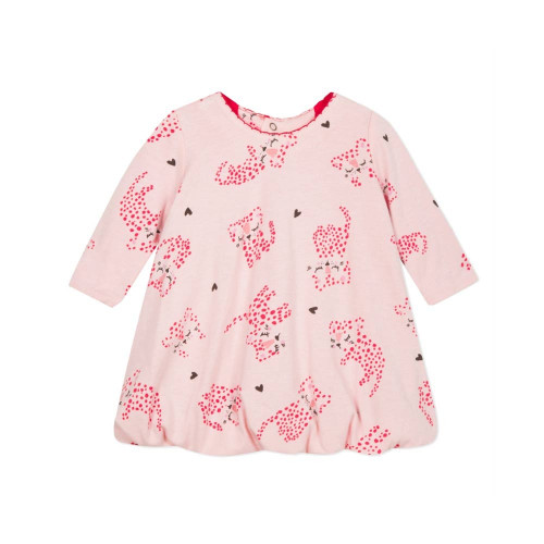 Bubble hem Dress, a flagship garment from Catamini's newborn range! A long-sleeve Dress that is incredibly soft and round.