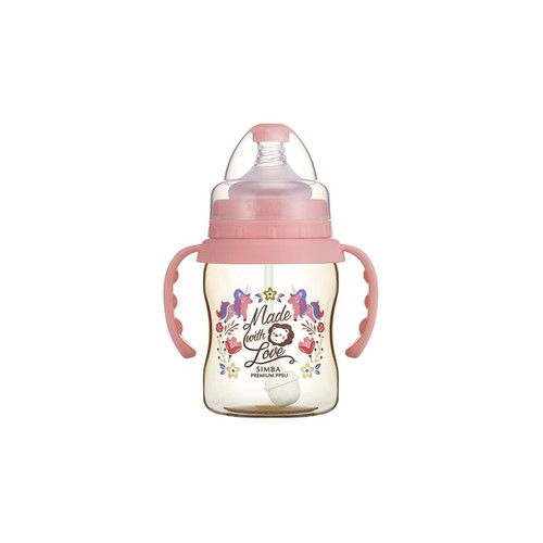 Simba Handle Wonderland PPSU Wide Neck Feeding Bottle(200) Pink