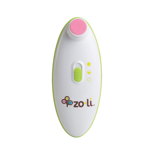 You won't need a magnifying glass to safely trim your baby's nails! The BUZZ B is a battery-operated nail trimmer that safely files tiny fingernails without harming surrounding skin. A gentle, yet effective oscillating action trims your baby's nails and includes two power settings. BUZZ B comes with four cushioned pads, each designed for a different stage of your baby's growth