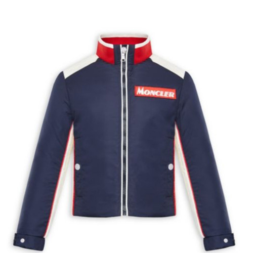 Boasting retro styling, this stand collar jacket is finished with a bold logo.