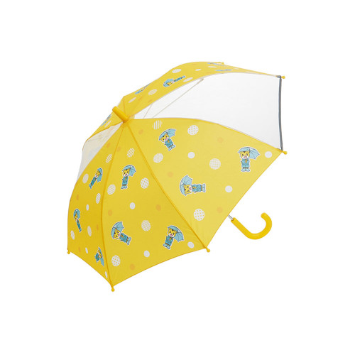 Cute design children's umbrella. With transparent windows that can be seen from the front and back. With a reflective tape in clear areas, you can rest assured on dark roads