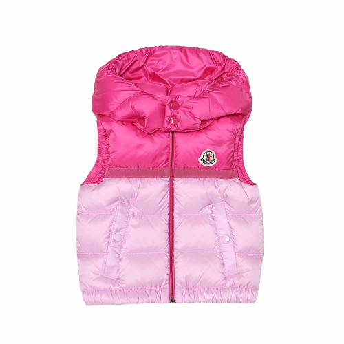 Moncler Enfant's Darbon vest has been filled with the label's signature down and feathers to ensure your little one stays warm.