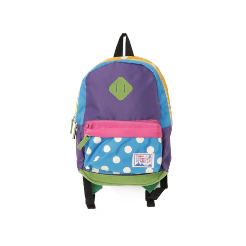Colorful pop kids backpack with chest buckle to prevent shoulder belt slippage at the front