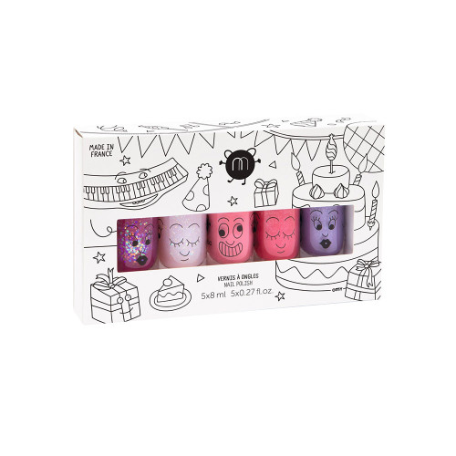 The party set does what it says on the box with a fiesta-filled line up:Sheepy,Polly,Cookie,KittyandPiglou!