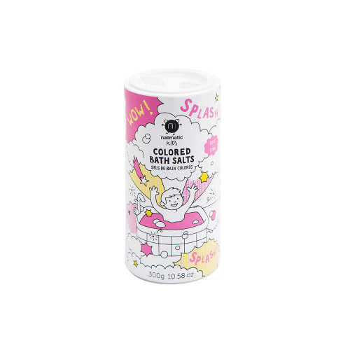 Funny shaker with blue salts for kids bath. Blue Salts is especially formulated to respect children' sensitive skin.