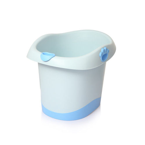 Babyhood Baby Bear Barrel Bath Tub Blue
