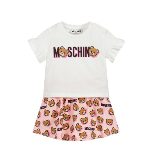 Moschino Teddy Shadow T-shirt And Skirt Set 3A