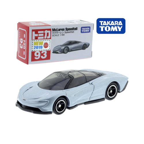 Takara Tomy Tomica No.93 Mclaren Speedtail Sports Model Car Toy Scale 1/68 Diecast Roadster Mould Funny Kids Doll Pop Puppet