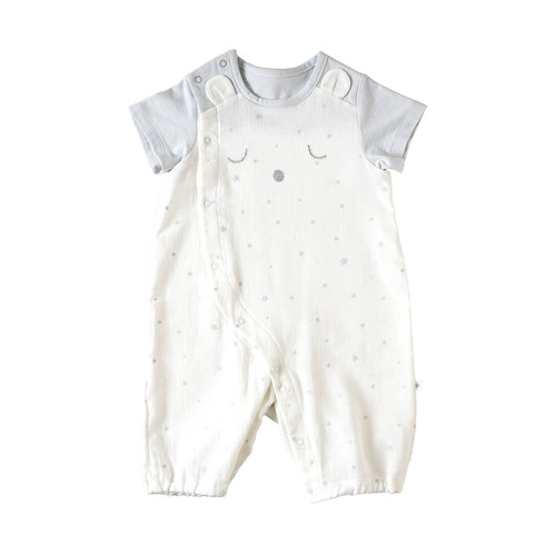 2way dress using baby crepe with excellent water absorption and quick drying. It is the perfect touch for spring and summer.