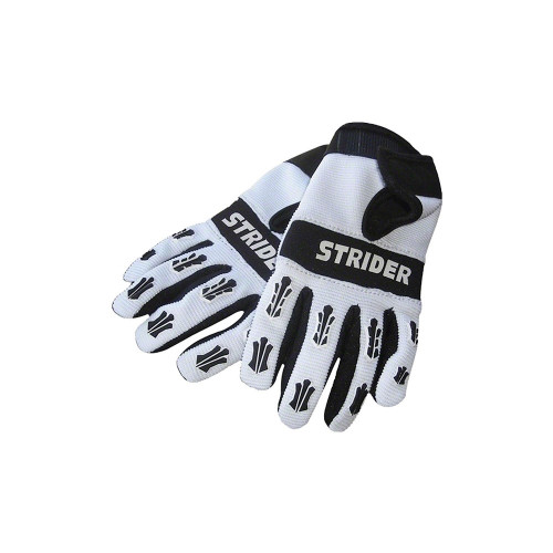 Keep your child's hands stylish while riding with our Strider Gloves. Our gloves improve grip and look super cool. The secure Velcro closure makes it easy for the gloves to come on or off.