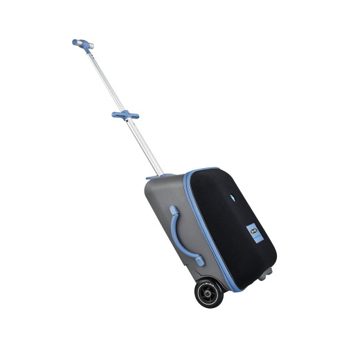 Leave the stroller at home because the new MICRO Luggage Eazy is your clever travel companion converts from luggage trolley to child´s ride-on in an instant!