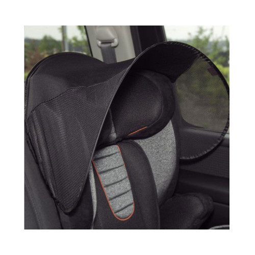 shade for use with infant car seat, high back booster or stroller.