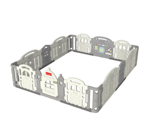The Dwinguler Castle II comes with its own Extension Kit. Make the already spacious play pen wider and bigger with the Dwinguler Castle II Extension Kit. More space for more fun with more friends!