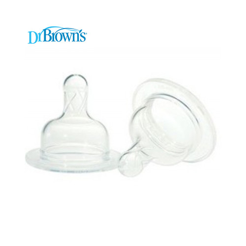 Dr Brown's Wide-Neck Silicone Nipples 2-Pack +