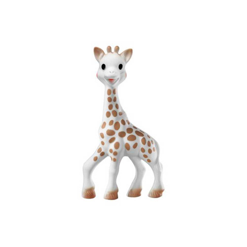 Sight: The dark and contrasting spots all over Sophie la girafe's body provide visual stimulation and make her easily recognizable to baby. She soon becomes a familiar and reassuring objet.
